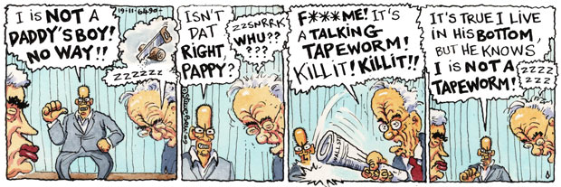 A Steve Bell cartoon